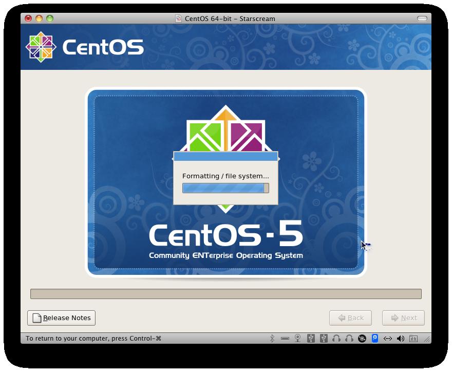 CentOS Install Begins
