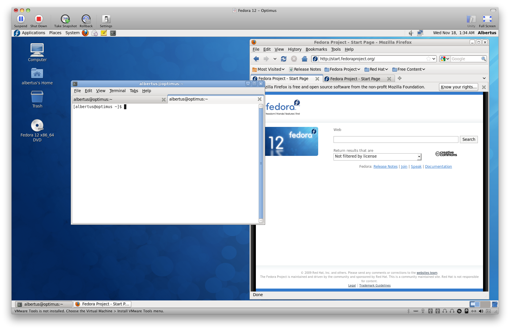 A First Look at Fedora 12 - Linux Unbound